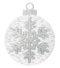 Load image into Gallery viewer, Galvanized Snowflake & Birch Ornament