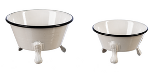 Mini Enamel Round Claw Foot Bathtub