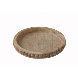 Round Wooden Bead Tray