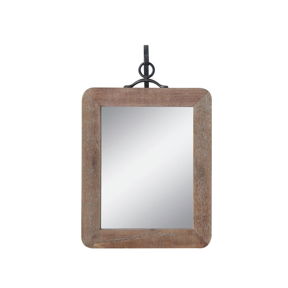 Wood & Metal Mirror - Small