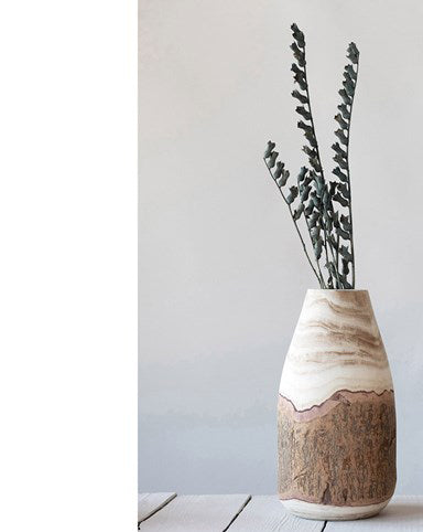 Live Edge Natural Wood Vase