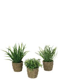 Faux Grass in Basket