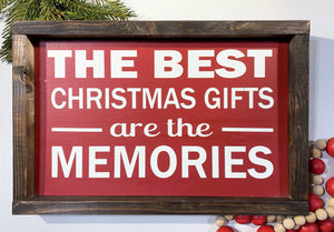 Handmade Sign - Christmas Memories