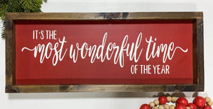 Handmade Sign - Most Wonderful Time of the Year
