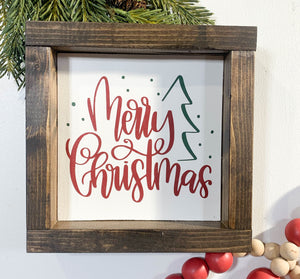 Handmade Sign - Merry Christmas