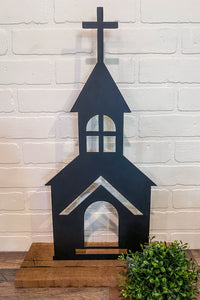 "10"" Church Cutout - Black"