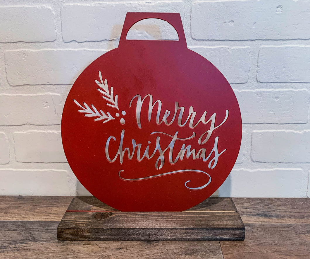 "10"" Merry Christmas Ornament Cutout"