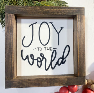 Handmade Sign - Joy to the World - Black