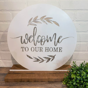 "10"" Welcome to Our Home - White"