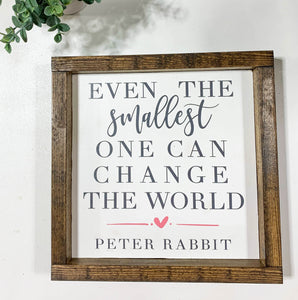 Handmade Sign - Peter Rabbit