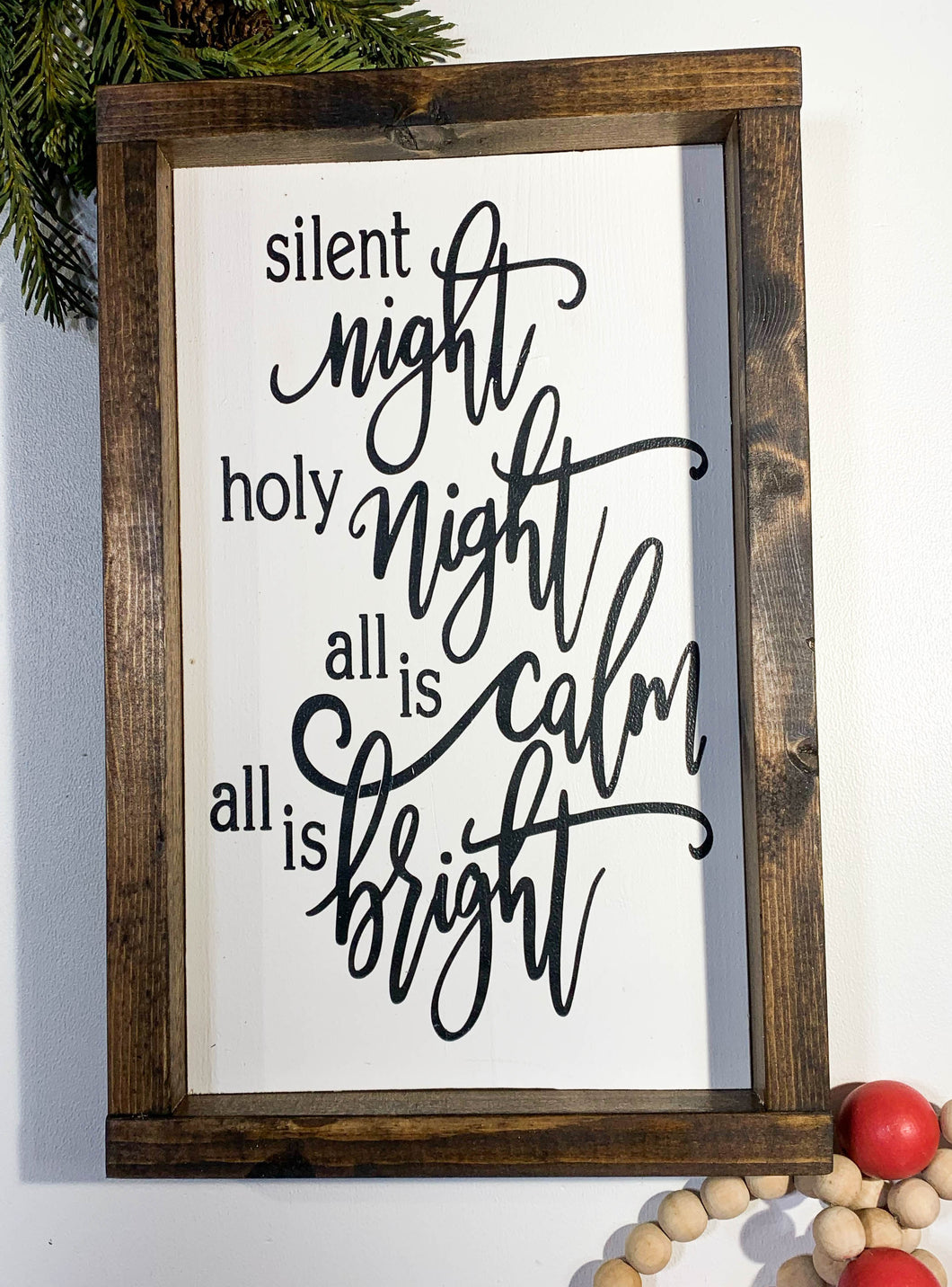 Handmade Sign - Silent Night