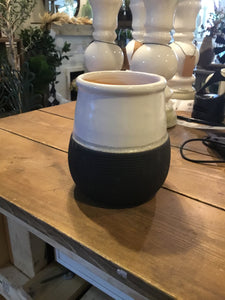 Melrose Decorative black/white vase