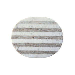 Grey & White Striped Marble Cheese/Cutting Board