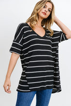 Load image into Gallery viewer, Jane Stripe V-Neck Top