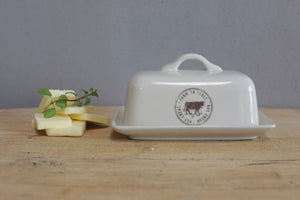 Butter Dish w/ Cow