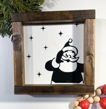 Load image into Gallery viewer, Handmade Sign - Santa Peeking
