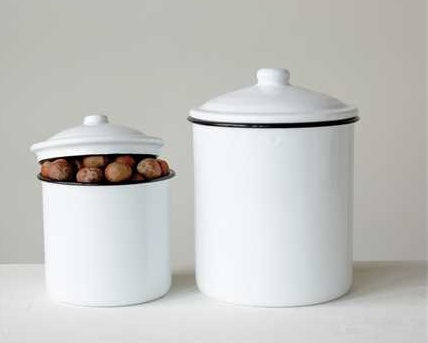 Enameled Canisters Set