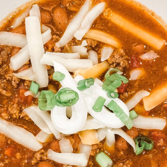 The Best Easy Chili Recipe | A Dash of Casual blog | home decor and gift boutique boerne san antonio texas