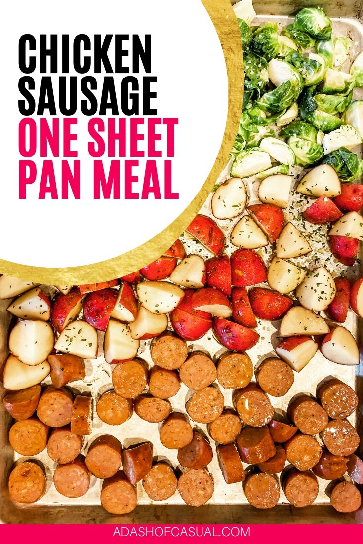 Easy Chicken & Sausage One Sheet Pan Meal | A Dash of Casual blog | home decor and gift boutique boerne san antonio texas