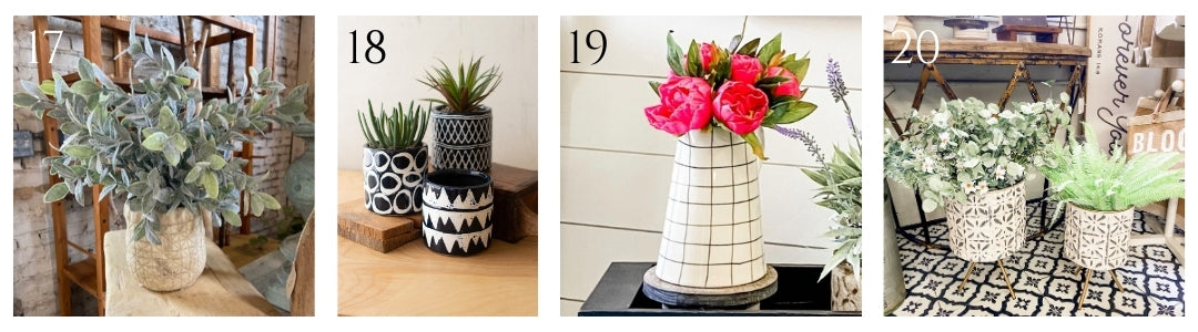 florals and planters for spring and summer - a dash of casual - boerne, texas