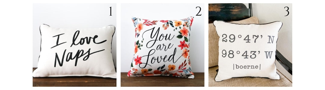 light and bright colorful floral throw pillows for spring and summer | a dash of casual | boerne, texas