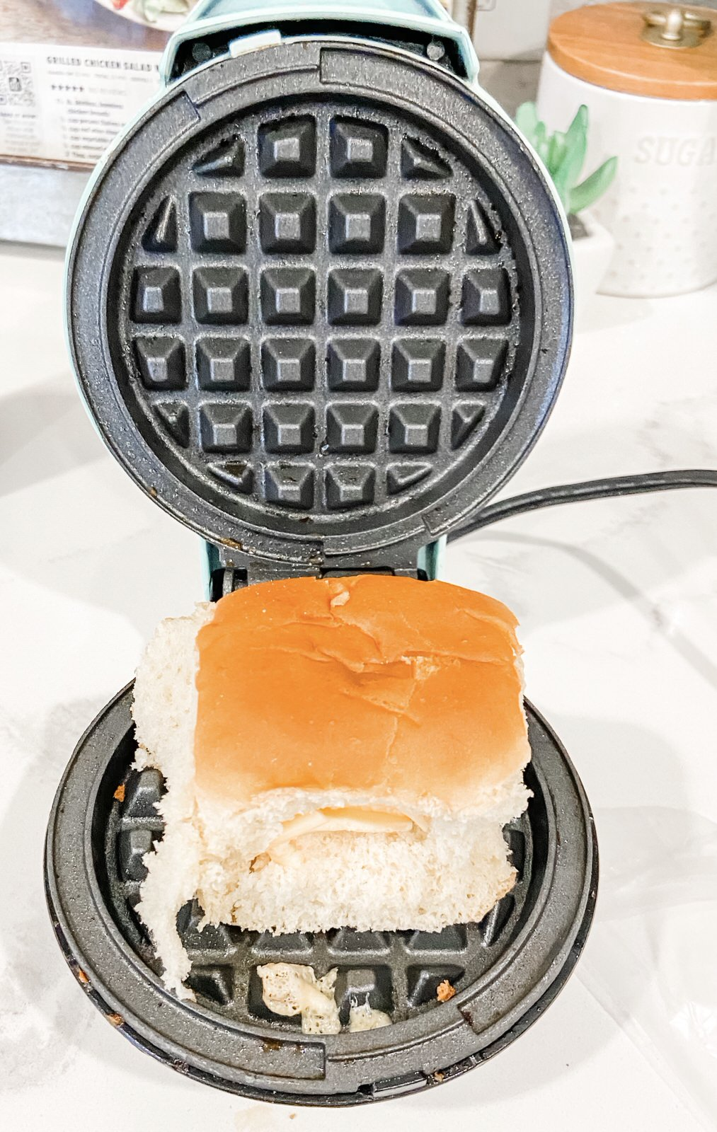 Mini Waffle Maker Easy Breakfast | A Dash of Casual blog | home decor and gift boutique boerne san antonio texas