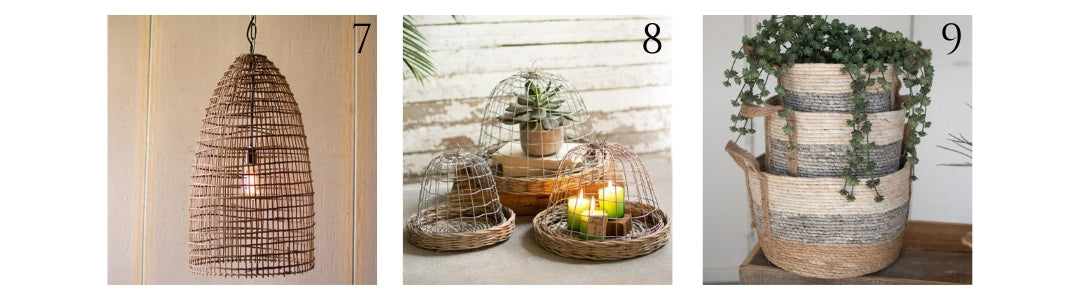 woven wicker and bamboo home decor for spring and summer - a dash of casual - boerne, texas
