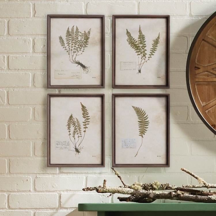 Petite Frond Prints, Set of 4