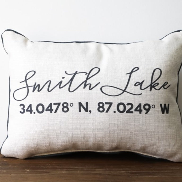 Custom Script Coordiantes Pillow