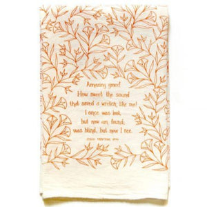 Amazing Grace Hymn Tea Towel