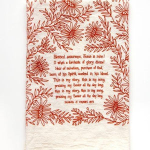 Blessed Assurance Hymn Tea Towel