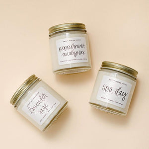 spa mini soy candle set | lavender peppermint and spa day candles | shop a dash of casual furniture, home décor, kitchenware, gifts, and art online or in store | Located inside the Corner Cartel in Boerne | best boerne shops for home decor vintage items accessories and gifts