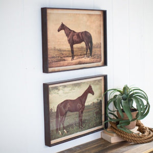 set of two horse prints | horse art prints | farmhouse art and decor | shop a dash of casual furniture, home décor, kitchenware, gifts, and art online or in store | Located inside the Corner Cartel in Boerne | best boerne shops for home decor vintage items accessories and gifts