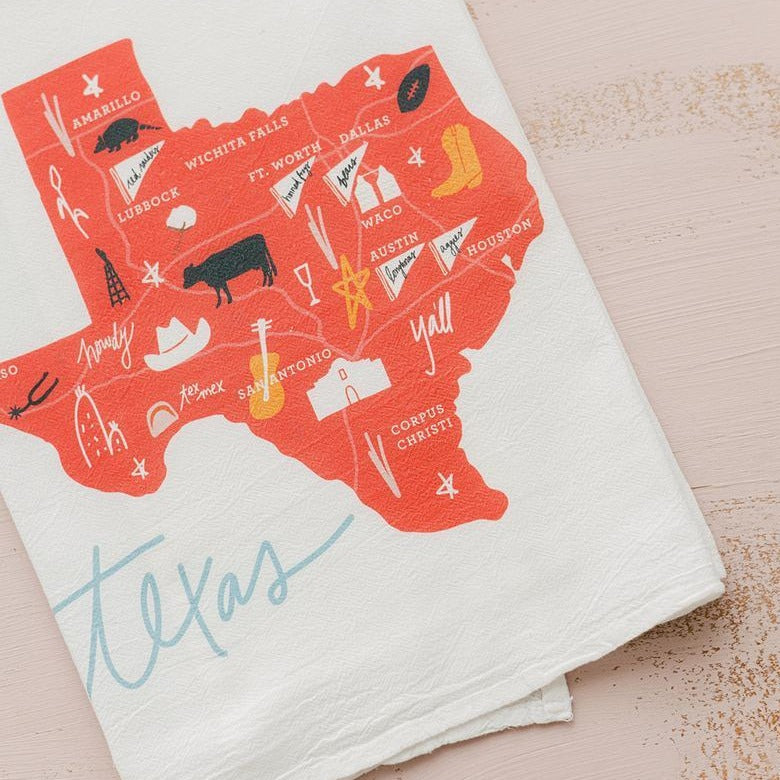Texas Flour Sack Tea Towel