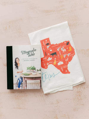 texas flour sack tea towel | kicthen towel | kitchen linens | famhouse kitchen decor | shop a dash of casual furniture, home décor, kitchenware, gifts, and art online or in store | Located inside the Corner Cartel in Boerne | best boerne shops for home decor vintage items accessories and gifts