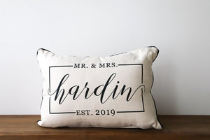 Mr & Mrs Custom Pillow