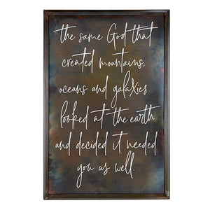 Large Metal Inspirational Wall Art - Same God