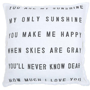Sofa Pillow - You Are My Sunshine