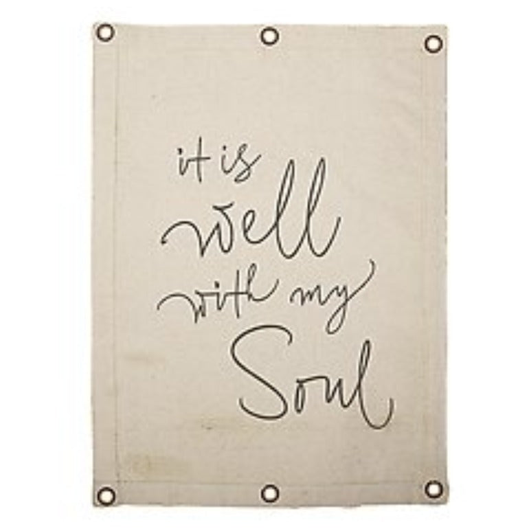 Canvas Wall Banner Art - Inspirational It Is Well