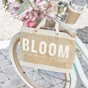 Mini Market Tote - Bloom Where You Are Planted