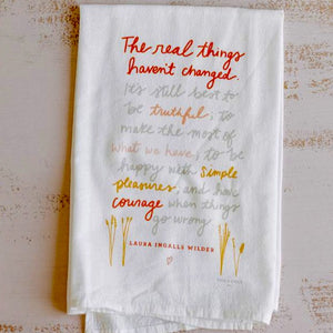 The Real Things Flour Sack Tea Towel
