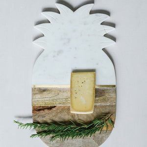 Marble & Mango Wood Pineapple Cutting Board/Tray