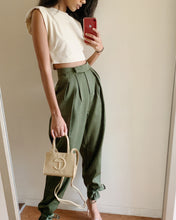 Load image into Gallery viewer, Olive Ankle Tie Pants