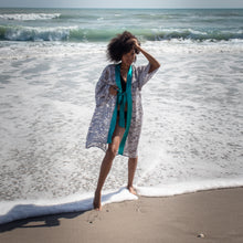 Load image into Gallery viewer, Buy beach cover up, buy beach dresses, best beach cover-ups, buy kimono cover up, buy robe fashion, buy bathing suit cover up, buy Resortwear, buy Beachwear, buy Caftan, buy comfortable robe, buy pretty robe, buy sustainable beach wear, buy sustainable resort wear, Fashion, Stylish, Lace