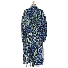Load image into Gallery viewer, Leopard Print, Long Sleeve Tunic with Drawstring Waist