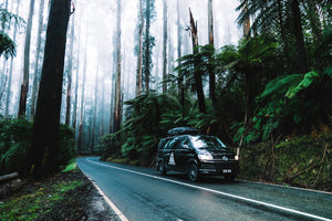 Our VW black van Hike & Seek day tours from Melbourne
