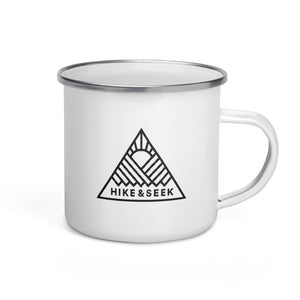 Hike & Seek melbourne printed hiking inspired enamel mug