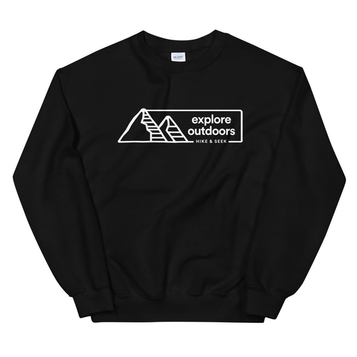 Hike & Seek explore outdoors printed hiking inspired sweater for men and women