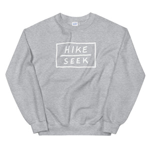 Hike & Seek printed hiking inspired sweater for men and women