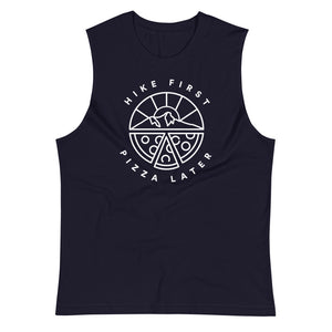 Hike First Pizza Later - Eco Unisex Tank